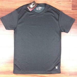 Spyder Men Shirt Light Weight Pro-Stretch Black